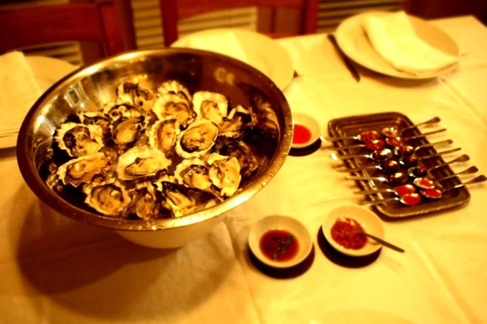 Fresh Oysters on Shells