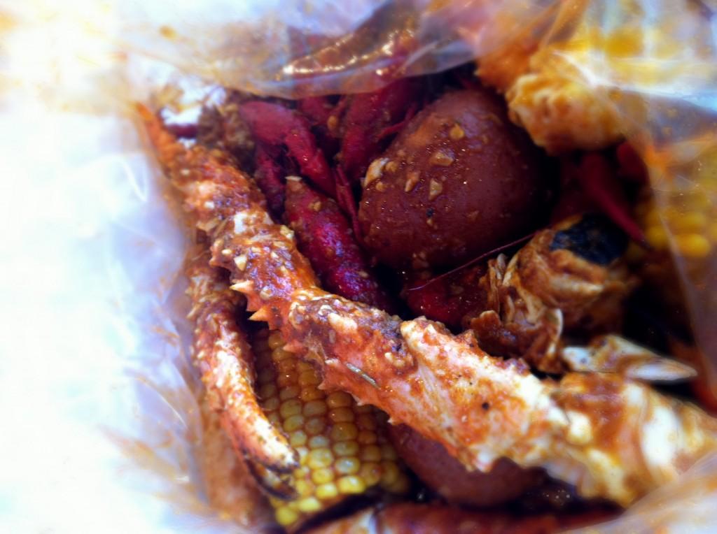 Snow Crab Legs, Crawfish, corns,  and Potatoes - Crawfish King